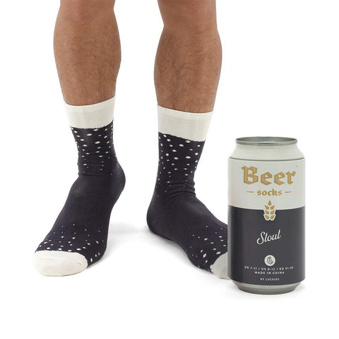 Luckies of London Men's Crew Socks - Stout (Beer)