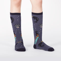 Sock It To Me Kids Knee High Socks - Deep Sea Queen (7-10 Years Old)