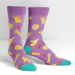 Sock It To Me Men's Crew Socks - Everyday is Fry-Day