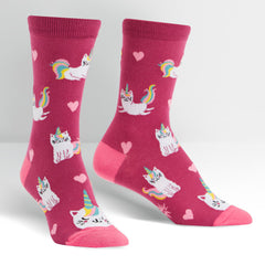 Sock It To Me Women's Crew Socks - Look At Me Meow