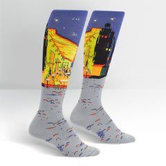 Sock It To Women's Knee High Socks - Café Terrace At Night
