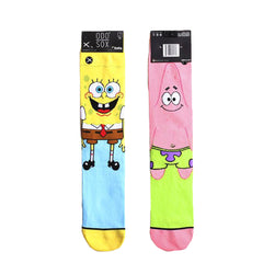 Odd Sox Men's Crew Socks - Spongebob & Patrick