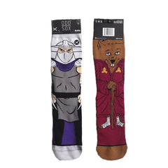 Odd Sox Unisex Crew Socks - Splinter & Shredder (TMNT)