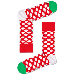 Happy Socks Women's Crew Socks - Big Dot Snowman
