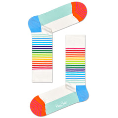 Happy Socks Women's Crew Socks - Half Stripe