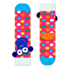 Happy Socks Kids Crew Socks - Dotty Monkey (7-9 Years Old)