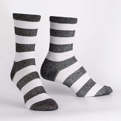 Sock It To Me Women's Crew Socks - Puttin' on the Glitz (Shimmer!)