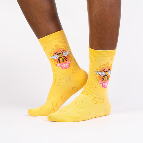Sock It To Me Women's Crew Socks - Queen Bee
