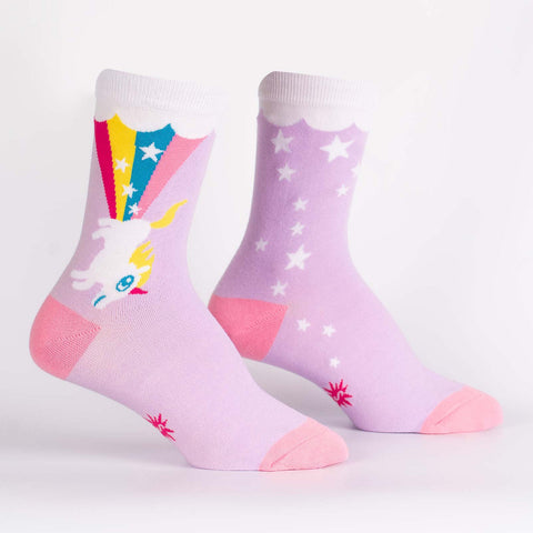 Sock It To Me Women's Crew Socks - Rainbow Blast