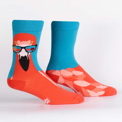 Sock It To Me Men's Crew Socks - Ready to Flamingo