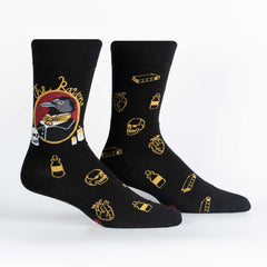 Sock It To Me Men's Crew Socks - Quoth the Raven