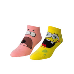 Odd Sox Unisex Ankle Socks - Spongebob Faces