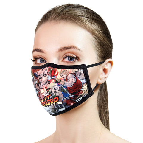 Odd Sox Face Masks - Street Fighter II: Rumble (One Size)