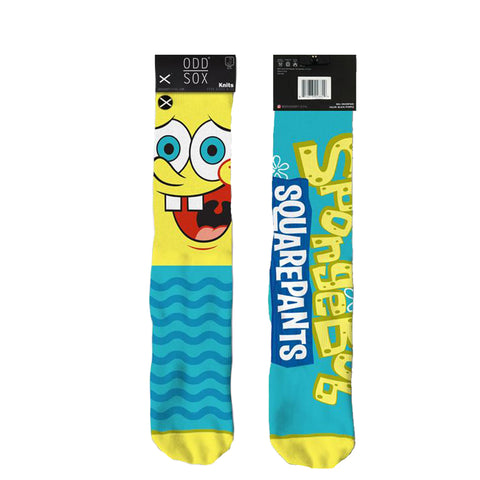 Odd Sox Men's Crew Socks - Spongebob Big Face
