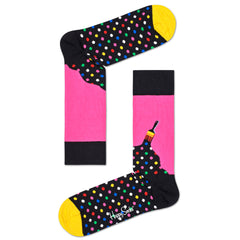 Happy Socks Men's Crew Socks - Paint