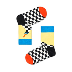 Happy Socks Kids Crew Socks - Paint (7-9 Years Old)