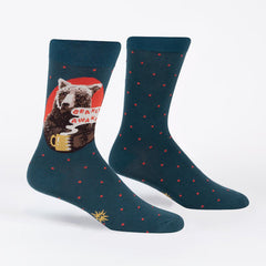 Sock It To Me Men's Crew Socks - Bearly Awake