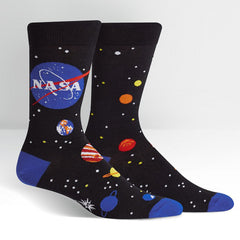 Sock It To Me Men's Crew Socks - Solar System (NASA)