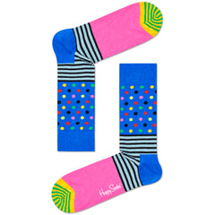 Happy Socks Women's Crew Socks - Stripes & Dots