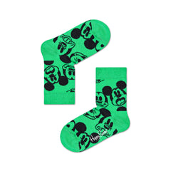Happy Socks x Disney Kids Crew Socks - Face It Mickey (7-9 Years Old)