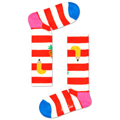Happy Socks Kids Knee High Socks - Fruit Striped (7-9 Years Old)