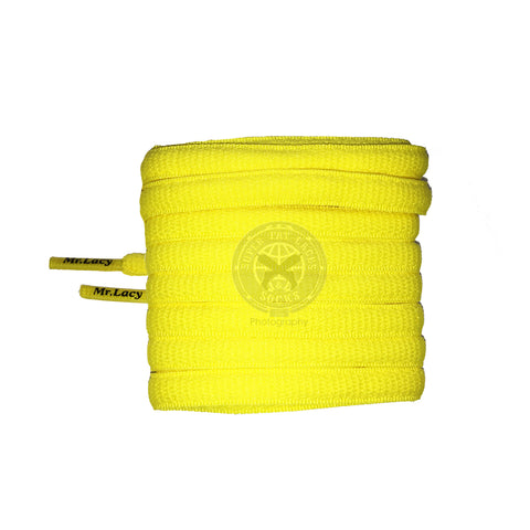 Mr Lacy Slimmies - Yellow Shoelaces