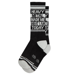 Gumball Poodle Unisex Crew Socks - Heavy Metal Made Me What I Am Today