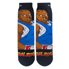 Odd Sox Men's Crew Socks - Balrog (Street Fighter II)