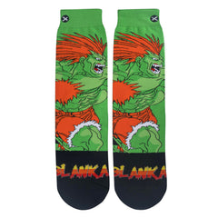 Odd Sox Men's Crew Socks - Blanka (Street Fighter II)