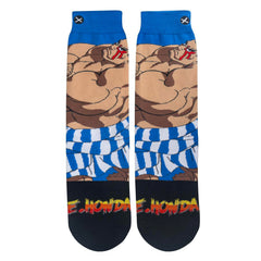Odd Sox Men's Crew Socks - E Honda (Street Fighter II)