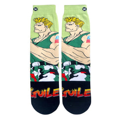 Odd Sox Men's Crew Socks - Guile (Street Fighter II)