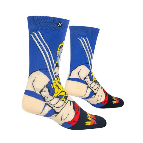 Odd Sox Men's Crew Socks - Vega (Street Fighter II)