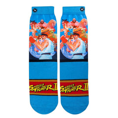 Odd Sox Men's Crew Socks - World Warriors (Street Fighter II)