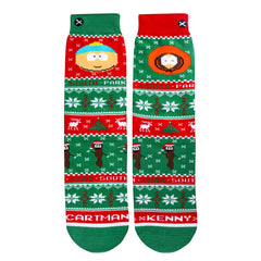 Odd Sox Men's Crew Socks - Cartman & Kenny Sweater (South Park)