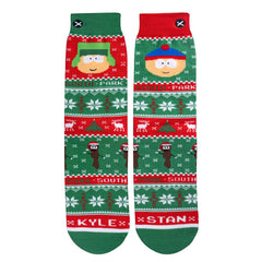 Odd Sox Men's Crew Socks - Kyle & Stan Sweater (South Park)