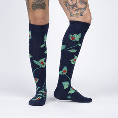 Sock It To Me Women's Knee High Socks - Luck be a Lady Bug