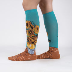 Sock It To Me Women's Knee High Socks - Sunflowers