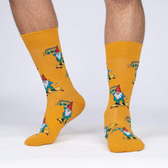 Sock It To Me Men's Crew Socks - Gnarly Gnome