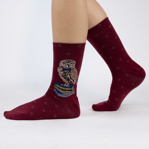 Sock It To Me Women's Crew Socks - Reading is a Hoot