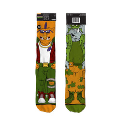 Odd Sox Men's Crew Socks - Bebop & Rocksteady (TMNT)