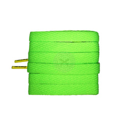 Mr Lacy Flatties Colour Tips - Neon Green & Yellow Shoelaces