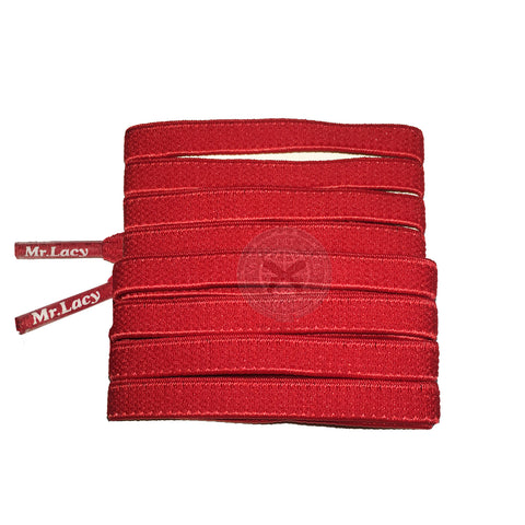 Mr Lacy Flexies - Red Flexible Shoelaces - 110cm Length