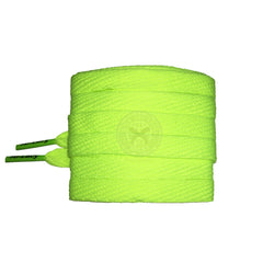 Mr Lacy Flatties Colour Tips - Neon Lime Yellow & Neon Green Shoelaces