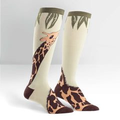 Sock It To Me Women's Funky Knee High Socks - Giraffe