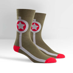 Sock It To Me Men's Crew Socks - Army Star