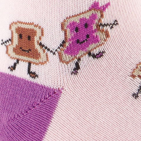 Sock It To Me Kids Crew Socks - Pink PB & Jelly (4-7 Years Old)