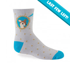 Sock It To Me Kids Crew Socks - Fawn In Frame (4-7 Years Old)