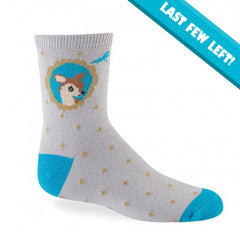 Sock It To Me Kids Crew Socks - Fawn In Frame (7-10 Years Old)