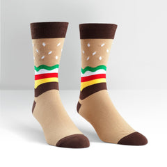 Sock It To Me Men's Crew Socks - Burger