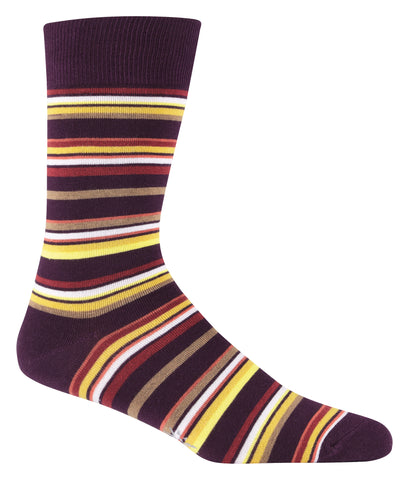 Sock It To Me Men's Crew Socks - Fall Multi Striped